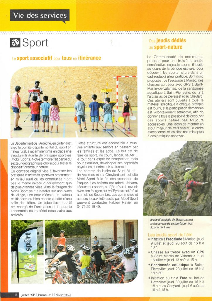 2015-07 - Magazine Val'Eyrieux