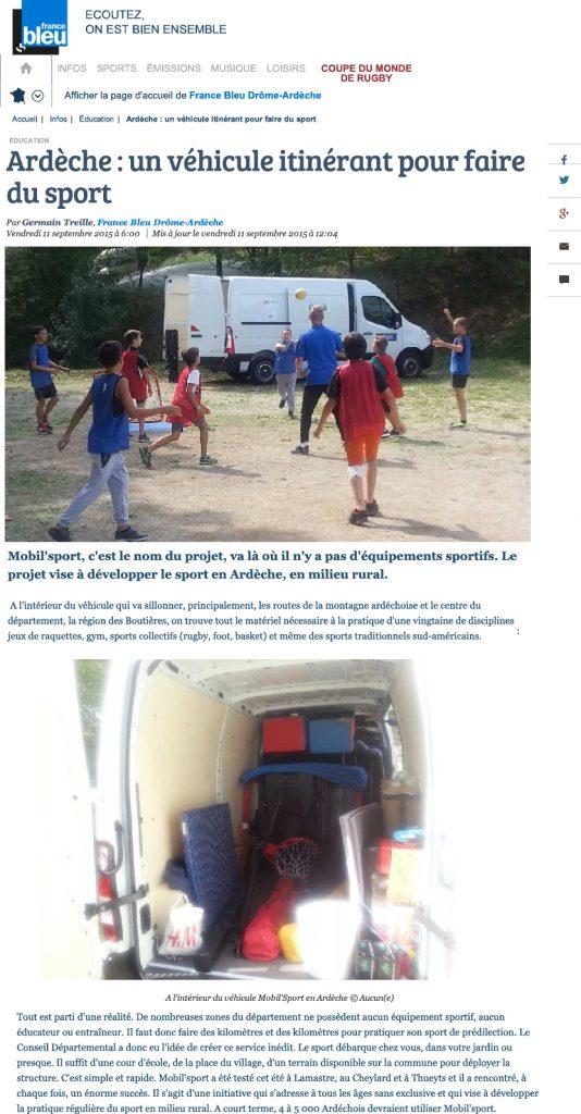 2015-09-11 - Fance bleu.fr