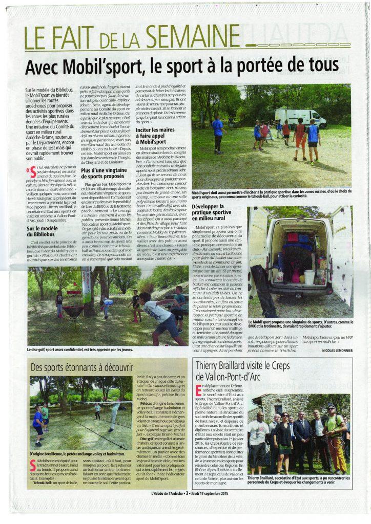 2015-09-17 - Hebdo de l'Ardèche