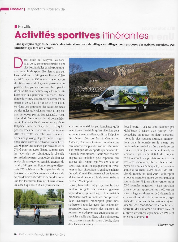 L'information Agricole - Juillet 2016