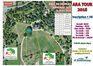 Disc golf - 1ère manche ARA Tour à Annonay